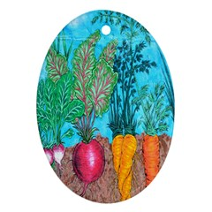 Mural Displaying Array Of Garden Vegetables Ornament (oval) by Simbadda