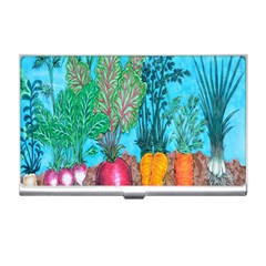 Mural Displaying Array Of Garden Vegetables Business Card Holders by Simbadda