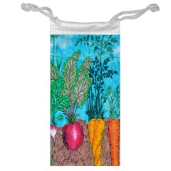 Mural Displaying Array Of Garden Vegetables Jewelry Bag by Simbadda