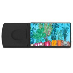 Mural Displaying Array Of Garden Vegetables Usb Flash Drive Rectangular (4 Gb) by Simbadda