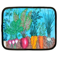 Mural Displaying Array Of Garden Vegetables Netbook Case (large) by Simbadda
