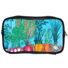 Mural Displaying Array Of Garden Vegetables Toiletries Bags 2 Side by Simbadda