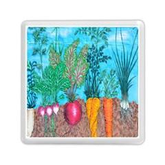 Mural Displaying Array Of Garden Vegetables Memory Card Reader (square)  by Simbadda