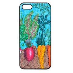 Mural Displaying Array Of Garden Vegetables Apple Iphone 5 Seamless Case (black) by Simbadda