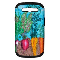 Mural Displaying Array Of Garden Vegetables Samsung Galaxy S Iii Hardshell Case (pc+silicone) by Simbadda