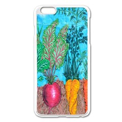 Mural Displaying Array Of Garden Vegetables Apple Iphone 6 Plus/6s Plus Enamel White Case by Simbadda