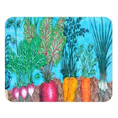 Mural Displaying Array Of Garden Vegetables Double Sided Flano Blanket (large)  by Simbadda