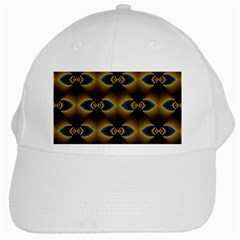 Fractal Multicolored Background White Cap by Simbadda