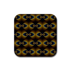 Fractal Multicolored Background Rubber Coaster (square)  by Simbadda