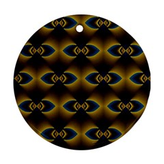 Fractal Multicolored Background Round Ornament (two Sides) by Simbadda