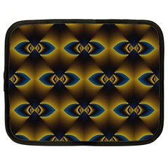 Fractal Multicolored Background Netbook Case (xl)  by Simbadda