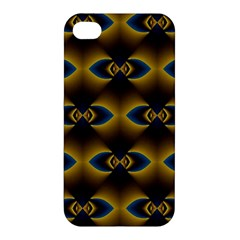Fractal Multicolored Background Apple Iphone 4/4s Premium Hardshell Case by Simbadda