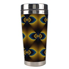 Fractal Multicolored Background Stainless Steel Travel Tumblers by Simbadda