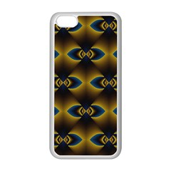 Fractal Multicolored Background Apple Iphone 5c Seamless Case (white) by Simbadda