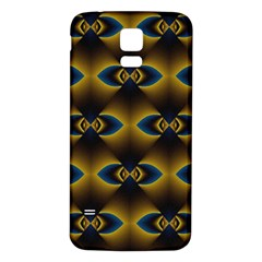 Fractal Multicolored Background Samsung Galaxy S5 Back Case (white) by Simbadda