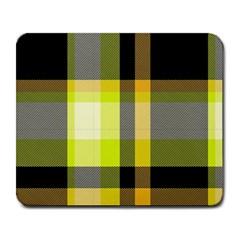 Tartan Pattern Background Fabric Design Large Mousepads by Simbadda