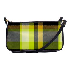 Tartan Pattern Background Fabric Design Shoulder Clutch Bags by Simbadda