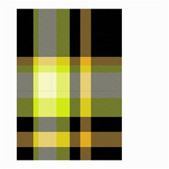 Tartan Pattern Background Fabric Design Small Garden Flag (two Sides) by Simbadda