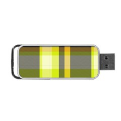 Tartan Pattern Background Fabric Design Portable Usb Flash (two Sides) by Simbadda