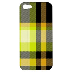 Tartan Pattern Background Fabric Design Apple Iphone 5 Hardshell Case by Simbadda