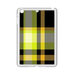 Tartan Pattern Background Fabric Design Ipad Mini 2 Enamel Coated Cases by Simbadda