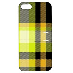 Tartan Pattern Background Fabric Design Apple Iphone 5 Hardshell Case With Stand by Simbadda
