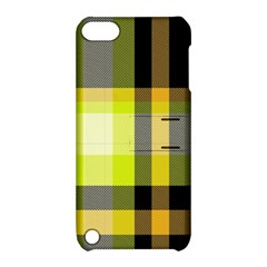 Tartan Pattern Background Fabric Design Apple Ipod Touch 5 Hardshell Case With Stand by Simbadda