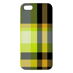 Tartan Pattern Background Fabric Design Iphone 5s/ Se Premium Hardshell Case by Simbadda