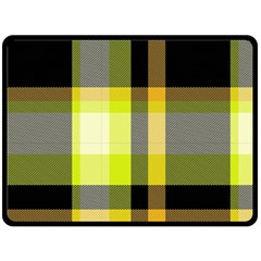 Tartan Pattern Background Fabric Design Double Sided Fleece Blanket (large)  by Simbadda