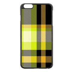 Tartan Pattern Background Fabric Design Apple Iphone 6 Plus/6s Plus Black Enamel Case by Simbadda