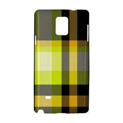 Tartan Pattern Background Fabric Design Samsung Galaxy Note 4 Hardshell Case by Simbadda