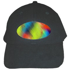 Punctulated Colorful Ground Noise Nervous Sorcery Sight Screen Pattern Black Cap by Simbadda