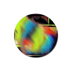 Punctulated Colorful Ground Noise Nervous Sorcery Sight Screen Pattern Magnet 3  (round) by Simbadda
