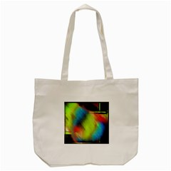 Punctulated Colorful Ground Noise Nervous Sorcery Sight Screen Pattern Tote Bag (cream) by Simbadda