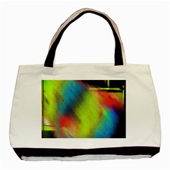 Punctulated Colorful Ground Noise Nervous Sorcery Sight Screen Pattern Basic Tote Bag by Simbadda