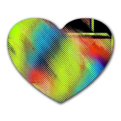 Punctulated Colorful Ground Noise Nervous Sorcery Sight Screen Pattern Heart Mousepads by Simbadda