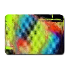 Punctulated Colorful Ground Noise Nervous Sorcery Sight Screen Pattern Plate Mats by Simbadda