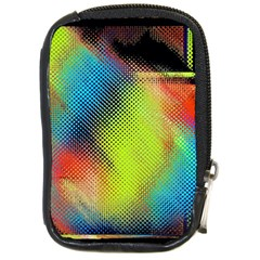Punctulated Colorful Ground Noise Nervous Sorcery Sight Screen Pattern Compact Camera Cases by Simbadda