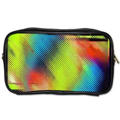 Punctulated Colorful Ground Noise Nervous Sorcery Sight Screen Pattern Toiletries Bags by Simbadda