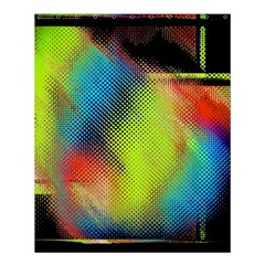 Punctulated Colorful Ground Noise Nervous Sorcery Sight Screen Pattern Shower Curtain 60  X 72  (medium)  by Simbadda