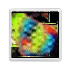 Punctulated Colorful Ground Noise Nervous Sorcery Sight Screen Pattern Memory Card Reader (square)  by Simbadda