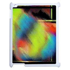 Punctulated Colorful Ground Noise Nervous Sorcery Sight Screen Pattern Apple Ipad 2 Case (white) by Simbadda