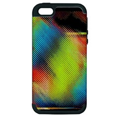 Punctulated Colorful Ground Noise Nervous Sorcery Sight Screen Pattern Apple Iphone 5 Hardshell Case (pc+silicone) by Simbadda
