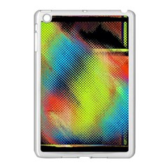 Punctulated Colorful Ground Noise Nervous Sorcery Sight Screen Pattern Apple Ipad Mini Case (white) by Simbadda