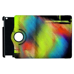 Punctulated Colorful Ground Noise Nervous Sorcery Sight Screen Pattern Apple Ipad 2 Flip 360 Case by Simbadda