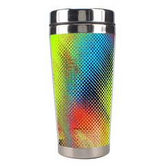 Punctulated Colorful Ground Noise Nervous Sorcery Sight Screen Pattern Stainless Steel Travel Tumblers by Simbadda
