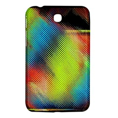 Punctulated Colorful Ground Noise Nervous Sorcery Sight Screen Pattern Samsung Galaxy Tab 3 (7 ) P3200 Hardshell Case  by Simbadda