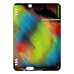Punctulated Colorful Ground Noise Nervous Sorcery Sight Screen Pattern Kindle Fire Hdx Hardshell Case by Simbadda