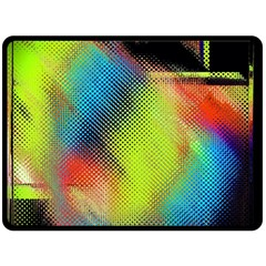 Punctulated Colorful Ground Noise Nervous Sorcery Sight Screen Pattern Double Sided Fleece Blanket (large)  by Simbadda