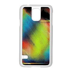 Punctulated Colorful Ground Noise Nervous Sorcery Sight Screen Pattern Samsung Galaxy S5 Case (white) by Simbadda